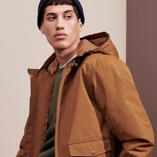 model in a coat