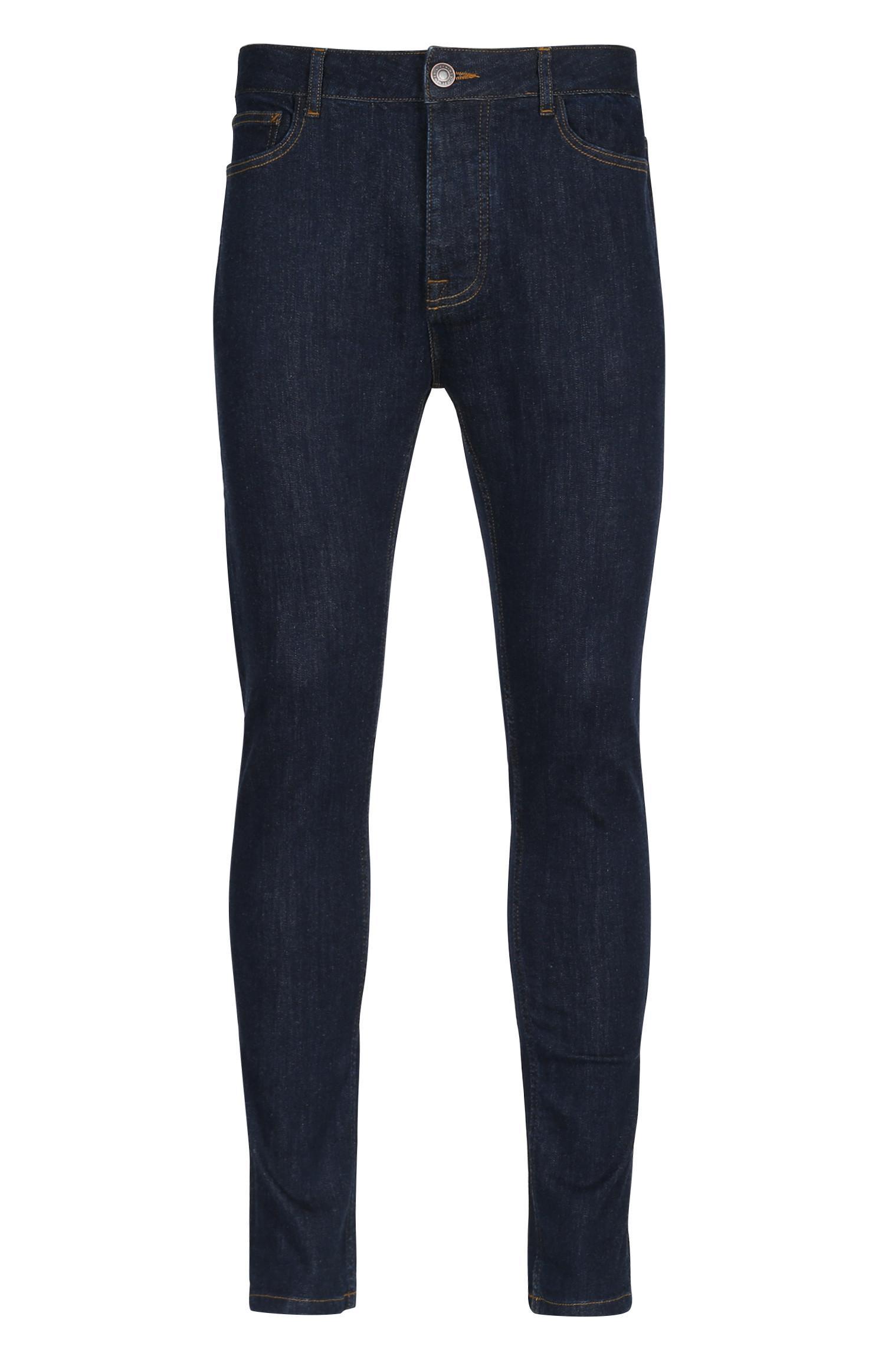 Blaue Skinny Jeans mit Stretch