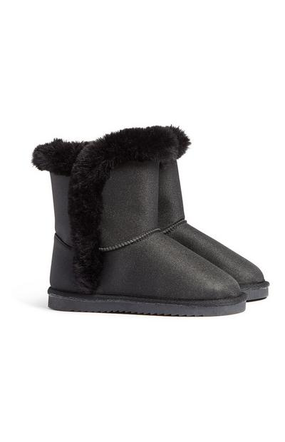 Older Girl Black Snug Boot