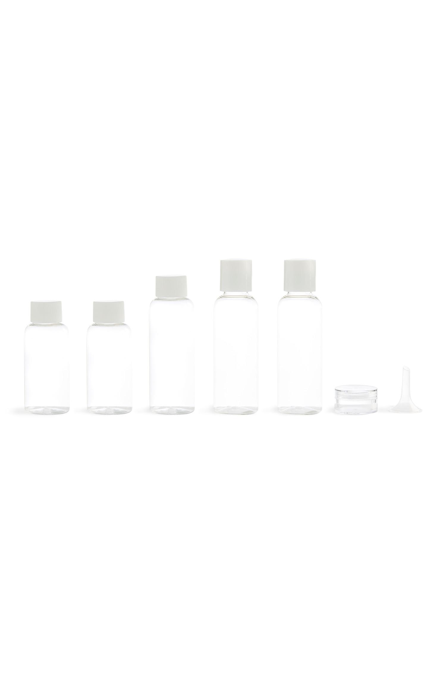 Pack 5 frascos viagem transparente