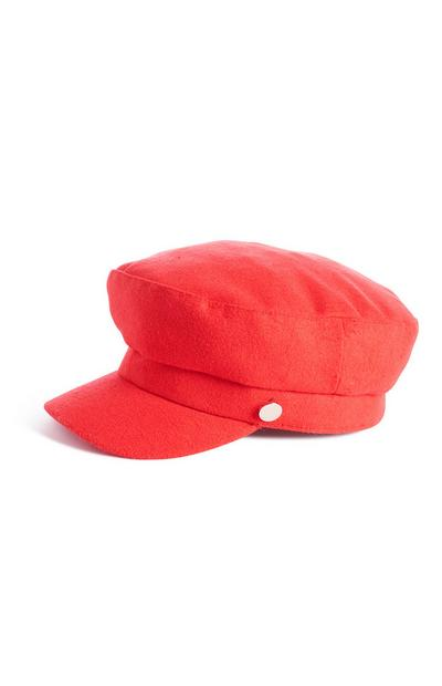 Red Bakerboy Hat