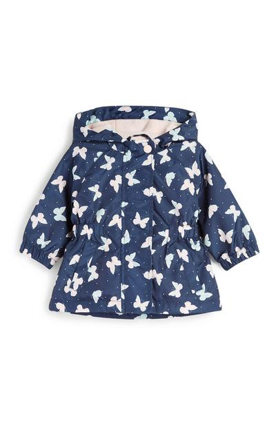 Baby Girl Butterfly Rain Mac