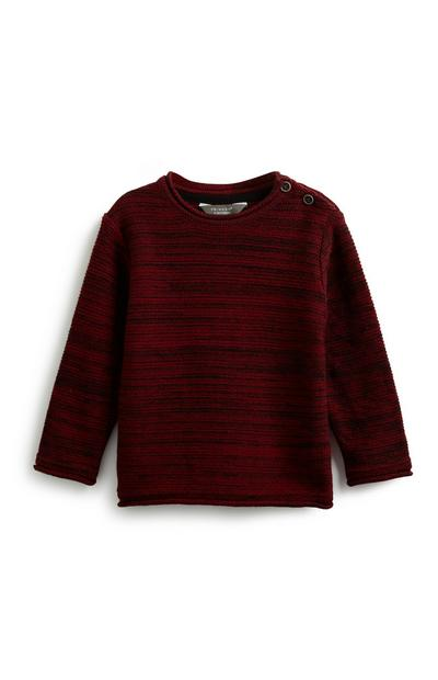 Baby Boy Button Neck Sweatshirt