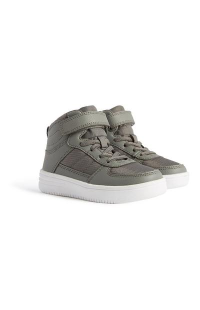 Younger Boy Grey High Top