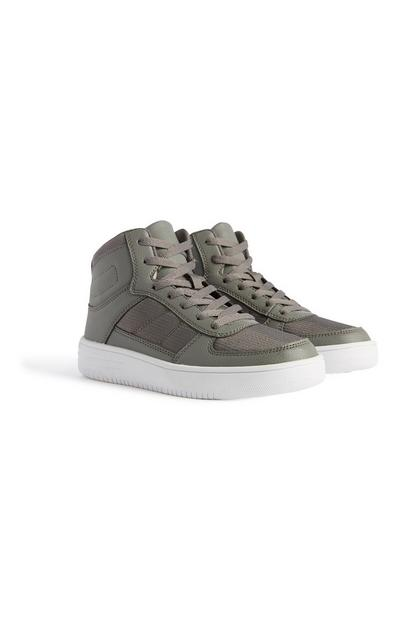 Older Boy Grey High Top Trainer