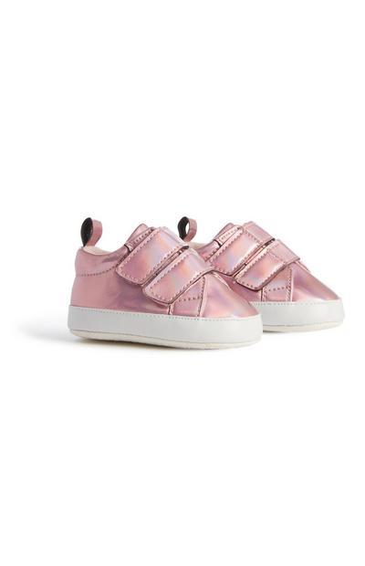 Baby Girl Pink Metallic Pumps