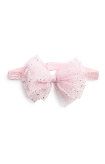 Pink Sparkle Bow Hair Band