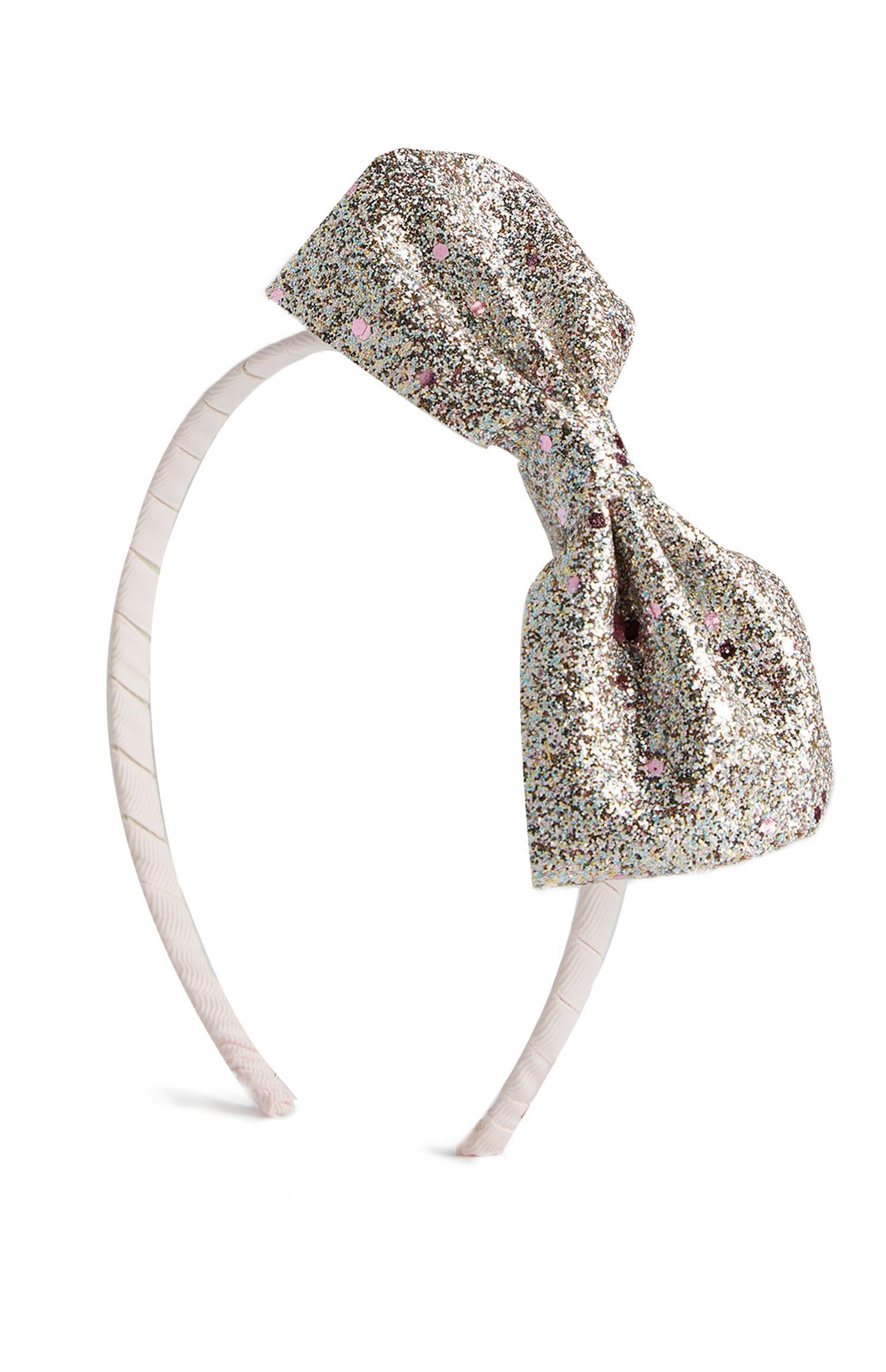 Chunky Glitter Bow Hairband