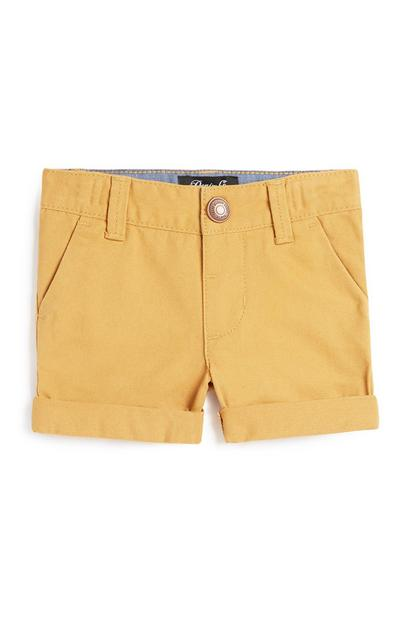Baby Boy Mustard Chino Short