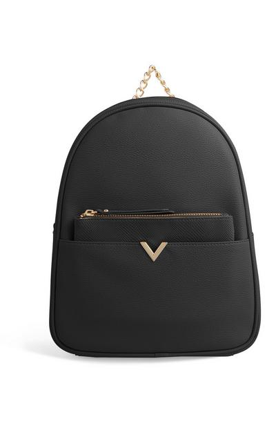 Black Removable Purse Backpack