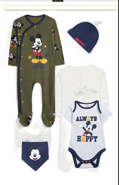 Newborn Mickey Mouse 4Pc Outfit Set