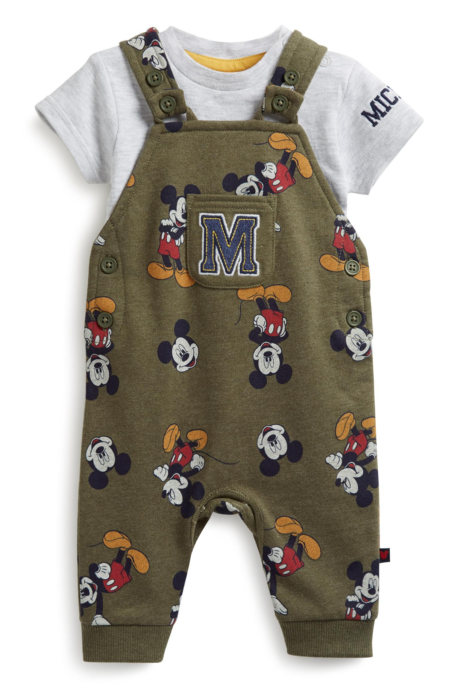 Newborn Mickey Dungaree Set