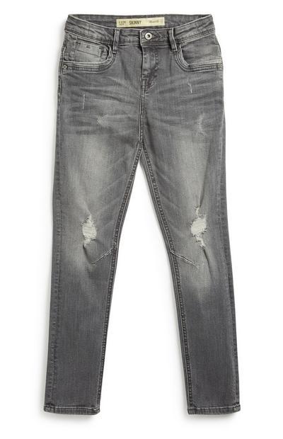 Older Boy Grey Skinny Jeans