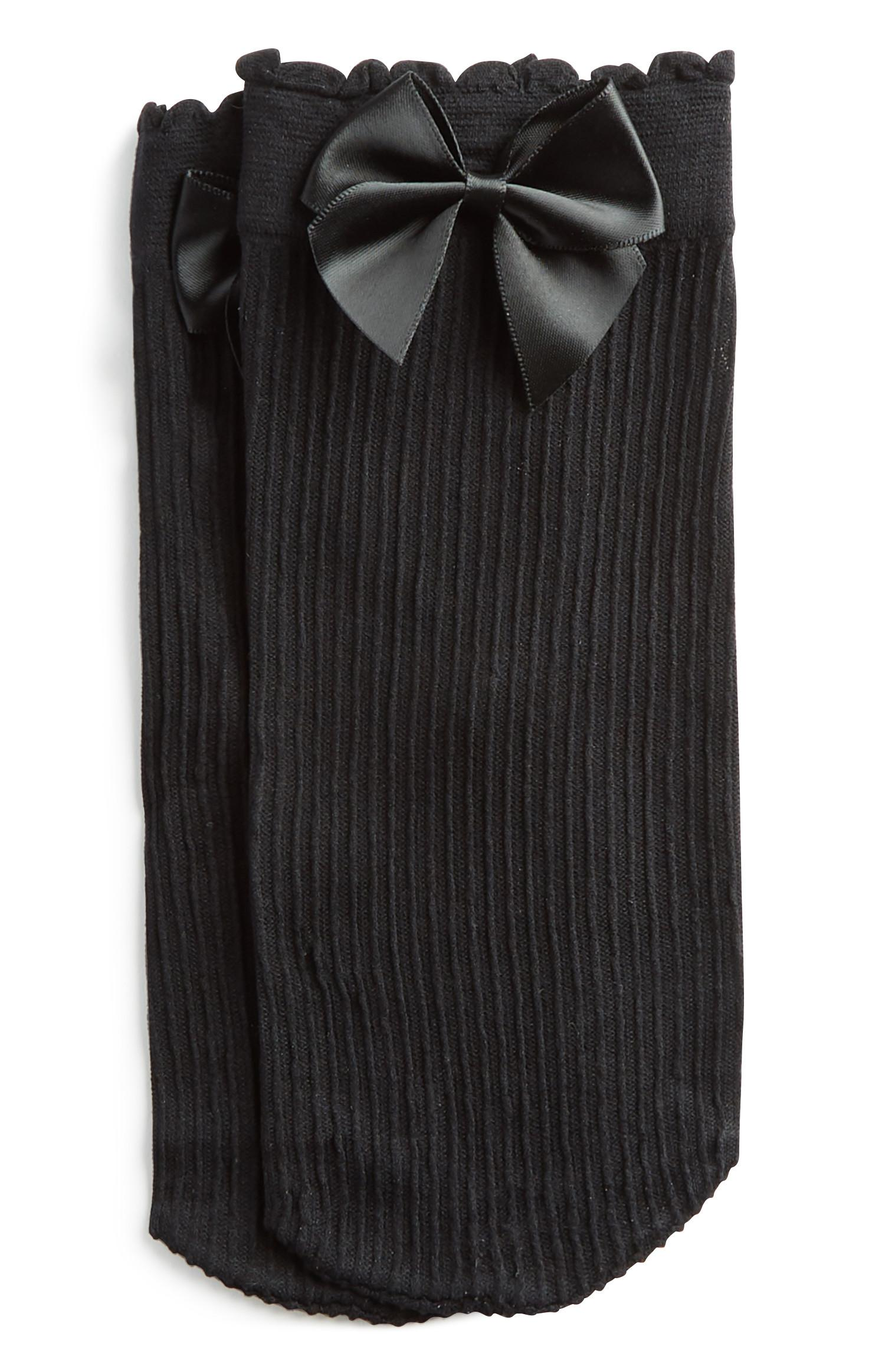Black Bow Ankle Sock