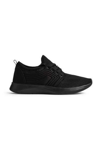 Black Embossed Trainer