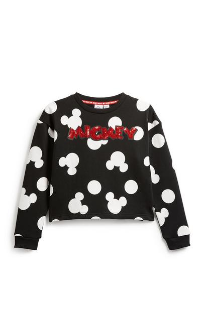 Older Girl Mickey Mouse Sweatshirt