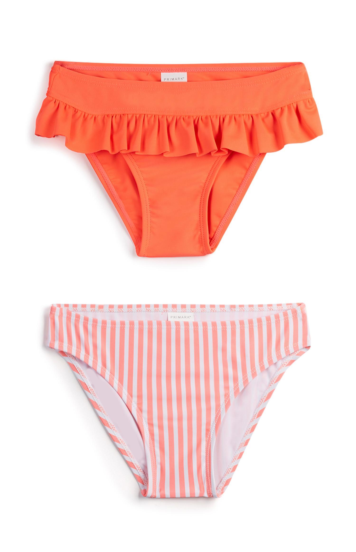 Pack de 2 braguitas de bikini para niña