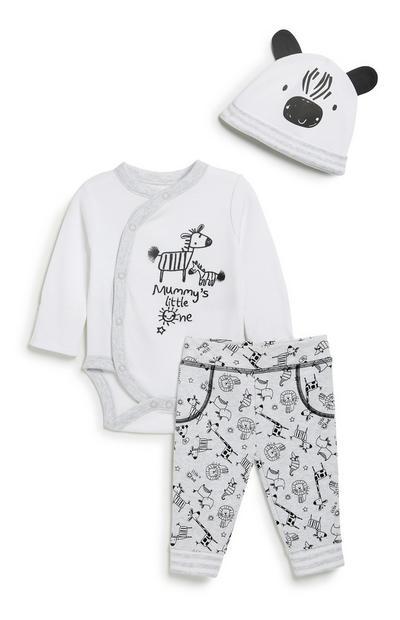 Newborn Unisex 3Pc Outfit