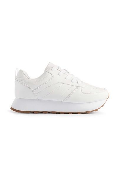 White Classic Platform Trainer