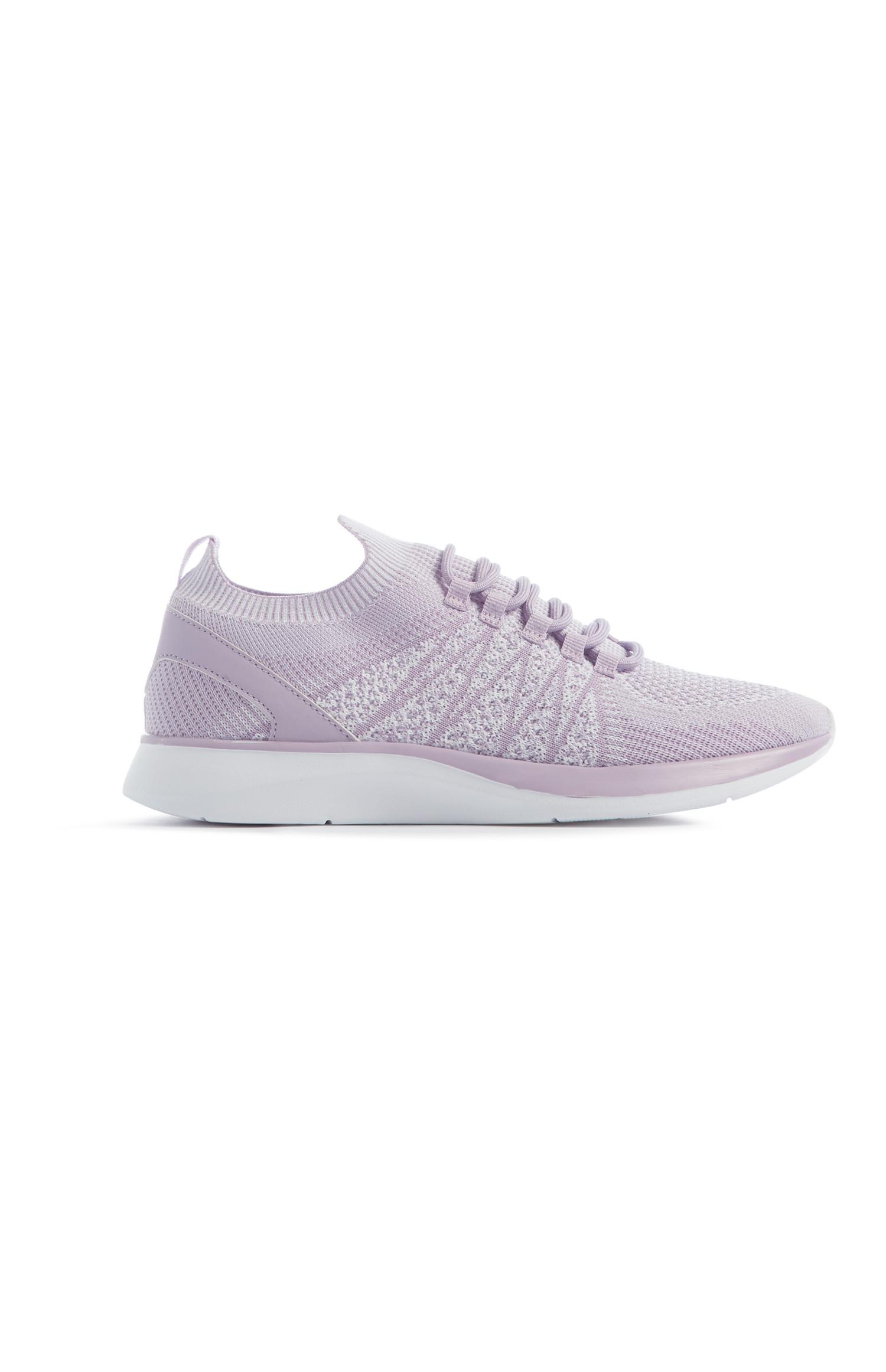 Lilac Knit Trainer