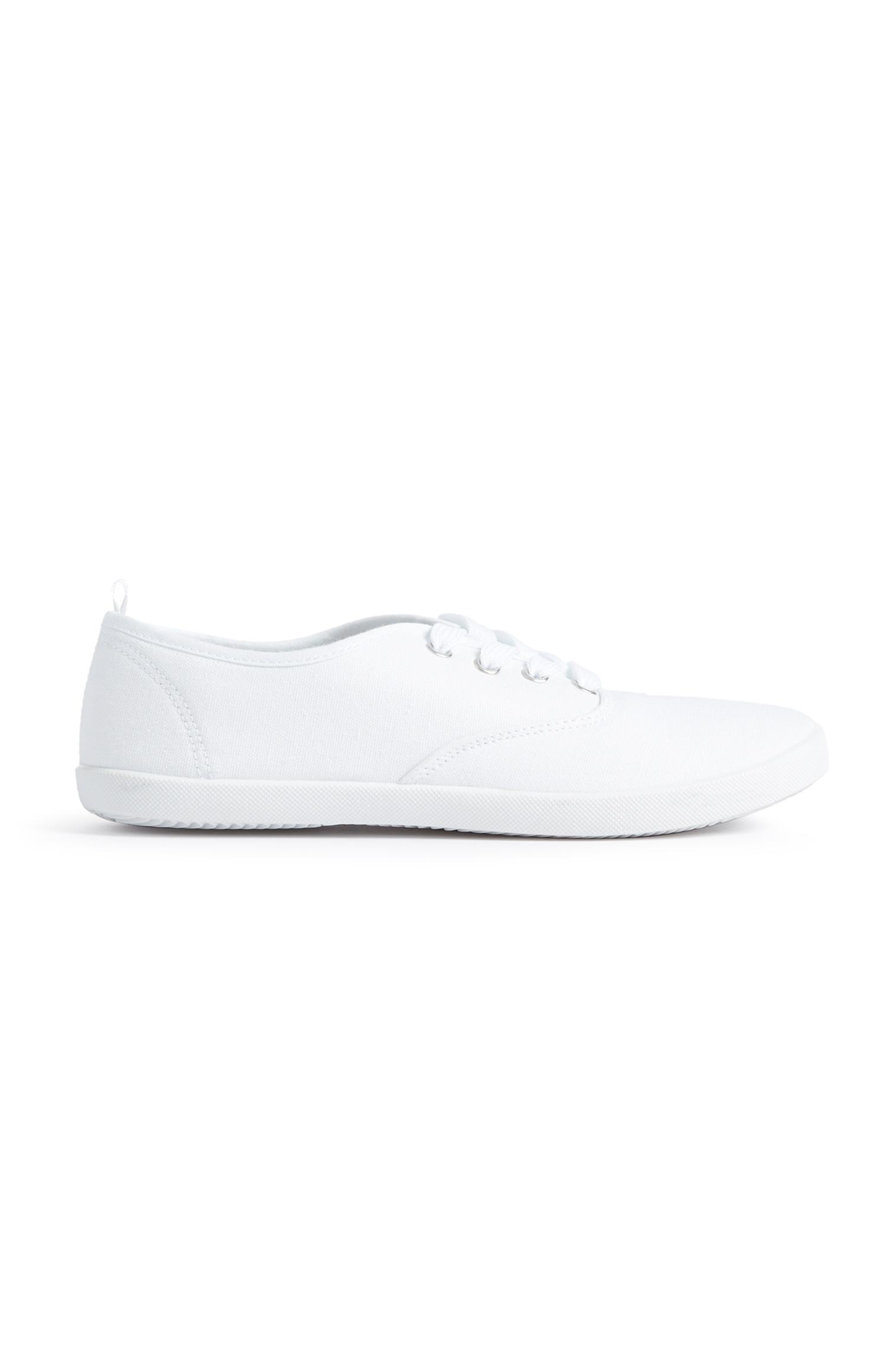 White Canvas Pump