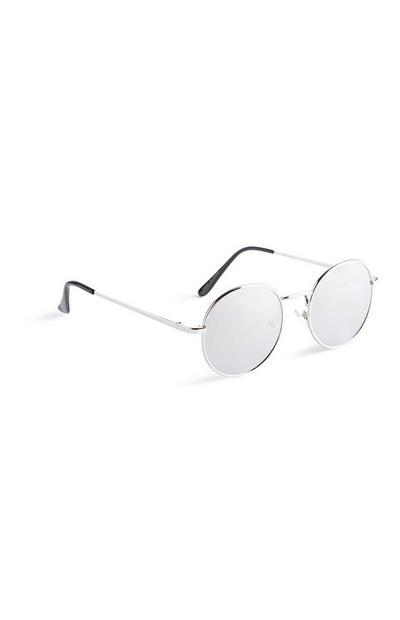 Silver Round Sunglasses