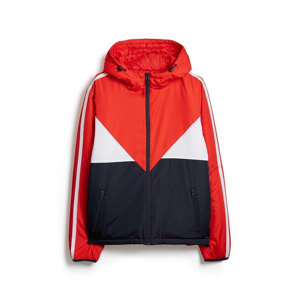 best sneakers 0f250 f330c Giacca rossa a blocchi di colore   Giacche e cappotti   Uomo ...