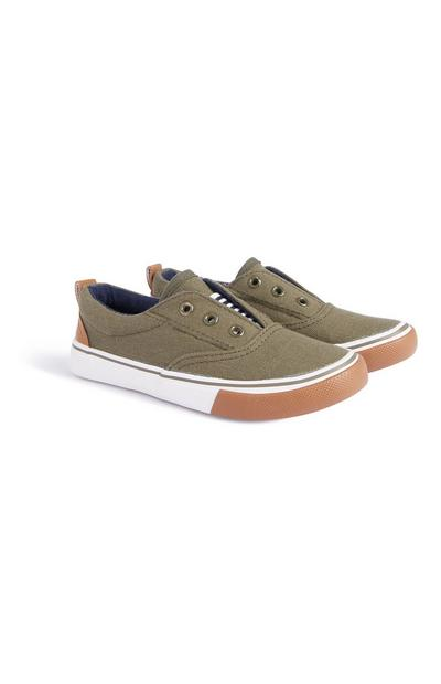 Younger Boy Khaki Shoes