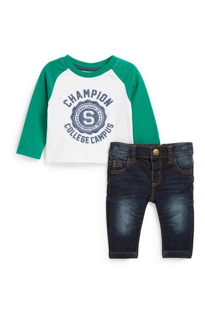 Baby Boy Raglan 2Pc Outfit Set