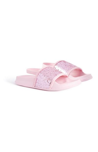 Younger Girl Pink Glitter Slider
