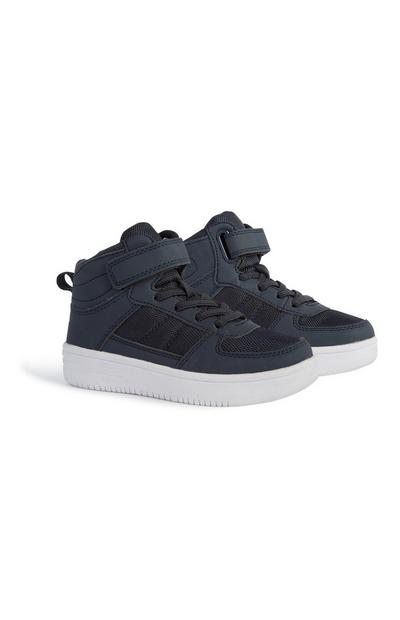 Younger Boy High Top Trainer
