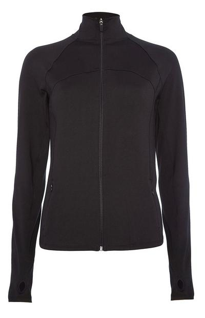 Black Zip Thru Jacket