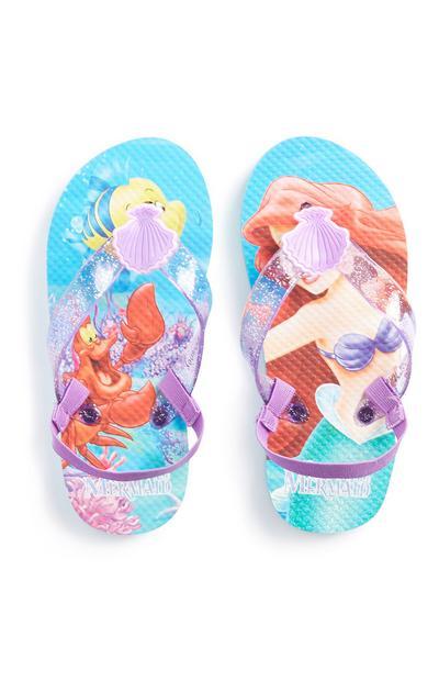 Younger Girl Ariel Flip Flop