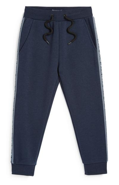 Younger Boy Navy Jogger