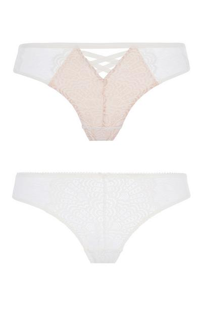 Ivory Lace Brief 2Pk