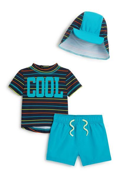 Baby Boy Swim 3Pc Outfit