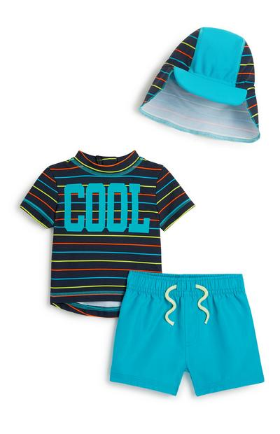 Baby Boy Swim 3Pc Outfit