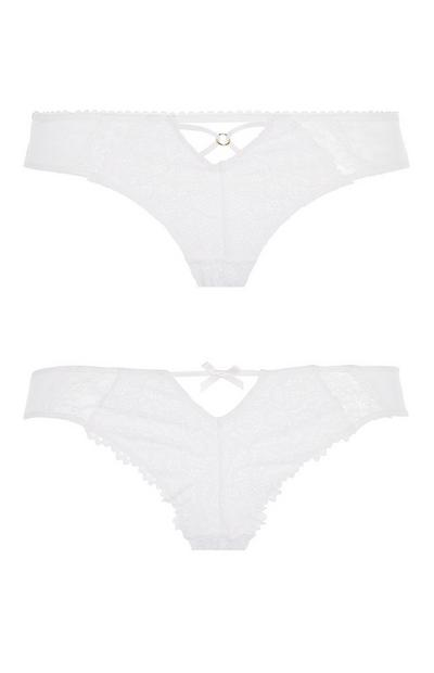 White Lace Brief 2Pk