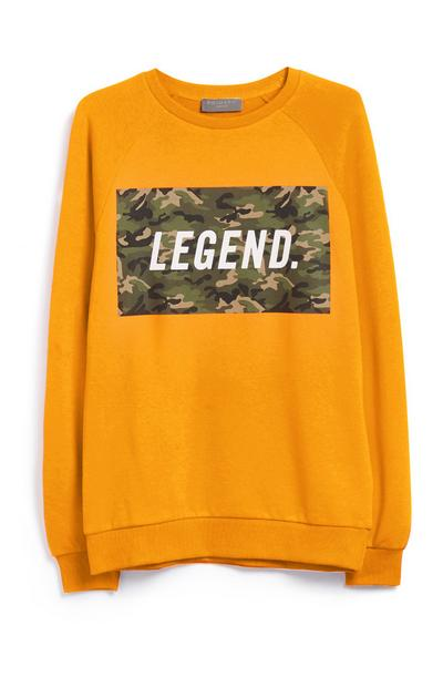 Yellow Legend Camo Sweatshirt