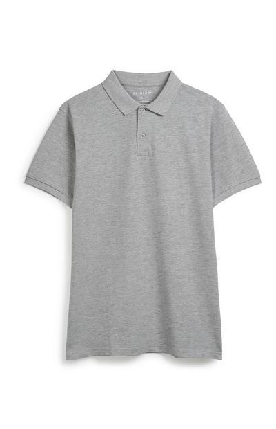 Grey Polo Top