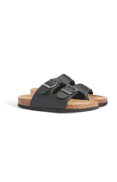 Older Boy Black Footbed Sandal