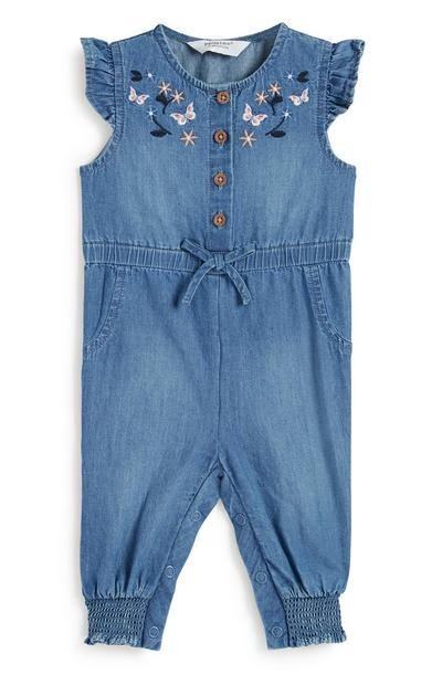 Baby Girl Denim Jumpsuit