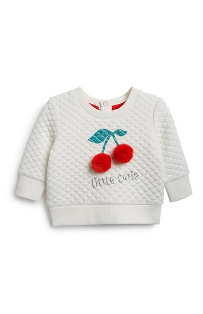 Baby Girl Cherry Sweatshirt