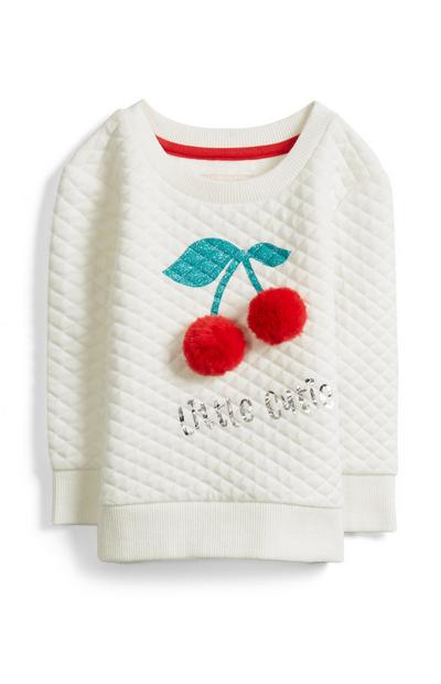 Baby Girl Cherry Sweatshirt