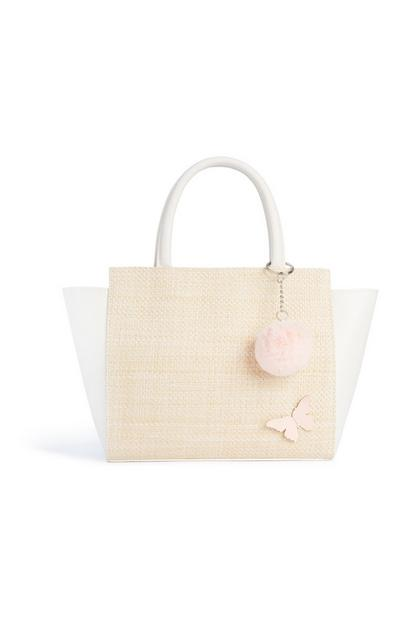 Straw Butterfly Tote Bag