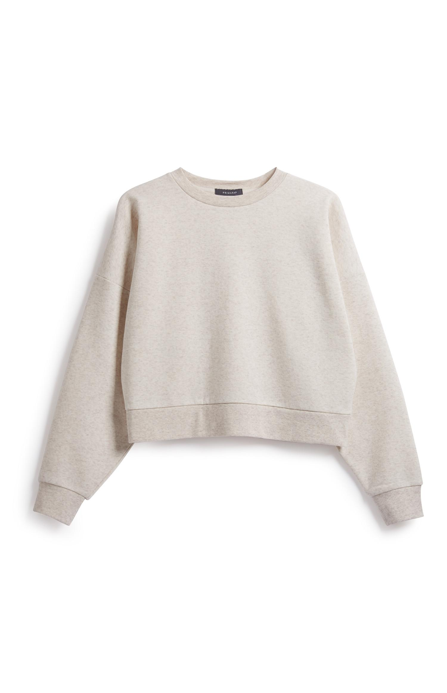 Ivory Crop Sweatshirt