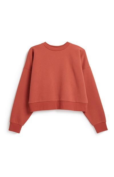 Burnt Orange Crop Sweater