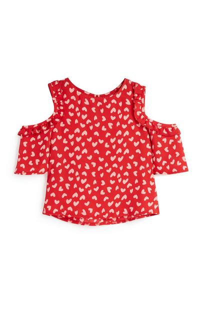 Younger Girl Heart Blouse