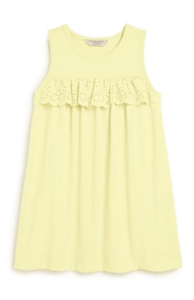 Younger Girl Broiderie Lemon Dress