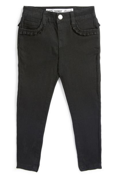 Black Ruffle Pocket Jean